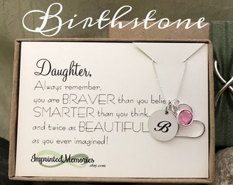 Gift For DAUGHTER Birthstone Necklace