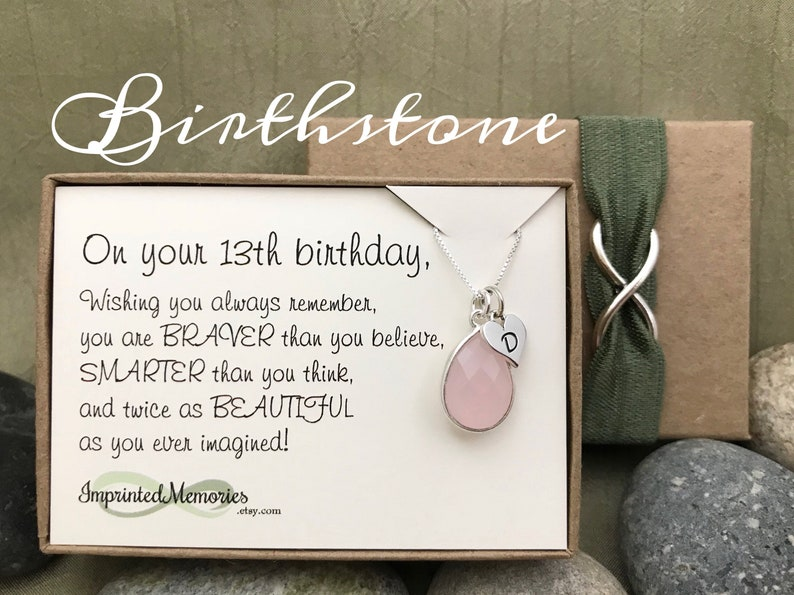 13th Birthday Gift For Girls Personalized Birthstone
