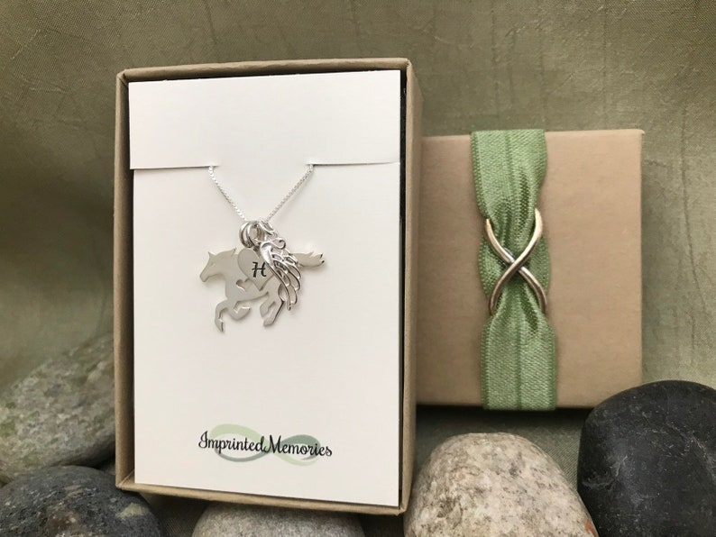Horse Lover Horseback Riding Pet Bereavement Horse Memorial Necklace Sterling Silver Horse Necklace Loss of a Horse Horse Jewelry