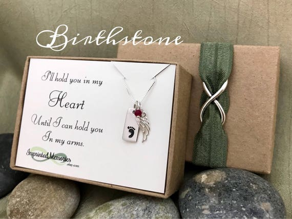 Miscarriage Necklace Tiny Baby Memorial Jewelry Sterling