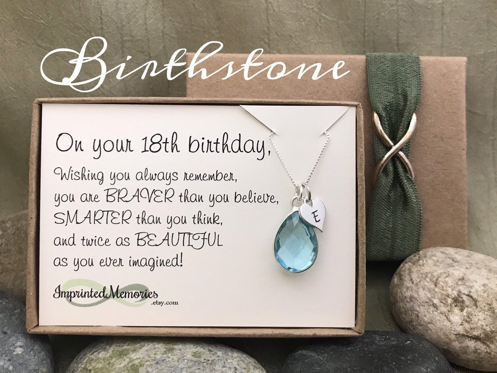 18th birthstone necklace