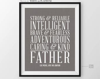 Fathers Day Gift For Dad Father From Kids Personalized Christmas Birthday