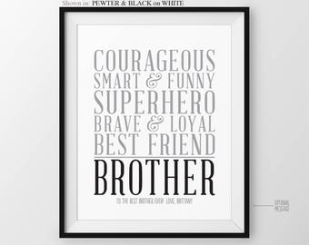 Christmas Gift For Brother Personalized Birthday From Sister Baby Big
