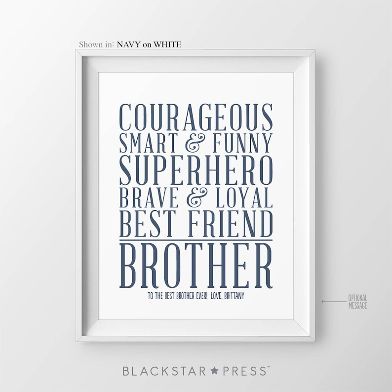Gift For Brother Christmas Gift Ideas For Brother Quotes Etsy