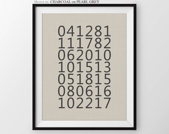 Family Dates to Remember What a Difference A Day Makes Important Dates Sign Special Dates Birthdays Grandchildren Birthdates Keepsake Print