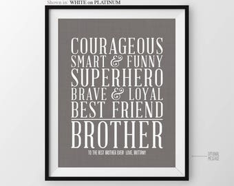 Birthday Gift For Brother Gift From Sister Gift Brother Birthday Brothers Gift For Little Brother Gift For Best Bro Gift Big Brother Gift