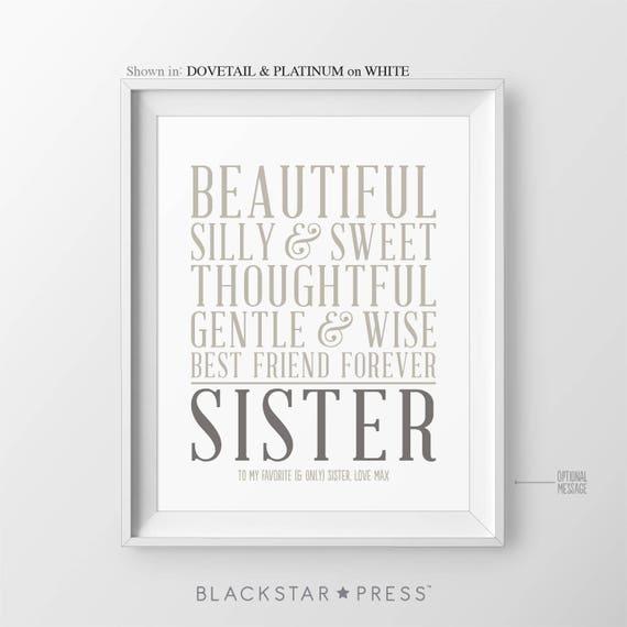 Gift for Sister Gift Christmas Gift for Sisters Birthday Gift | Etsy