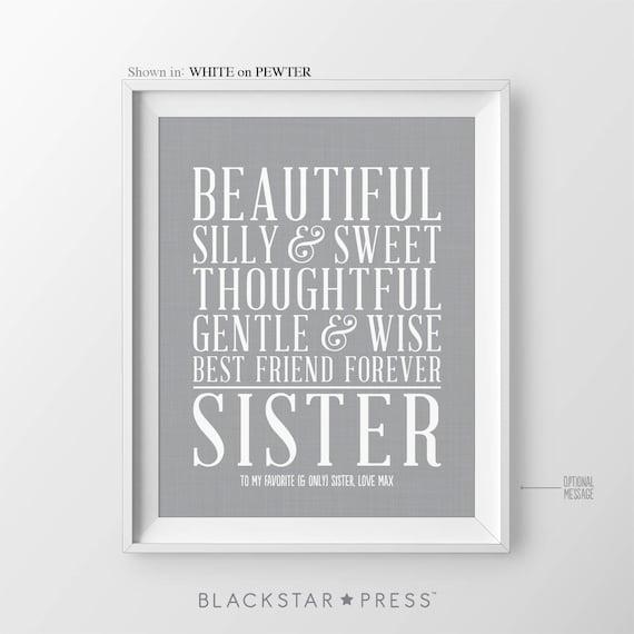 christmas gift for sisters birthday gift for sister christmas etsy