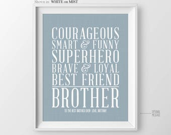 Gift For Brother Birthday For Brother Present Big Brother Gift Gift For New Brother Little Brother Gift Brother Christmas Birthday Brother