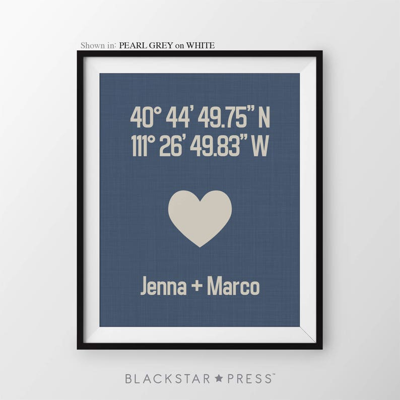 Housewarming Gift For Couple Anniversary print Custom image 0