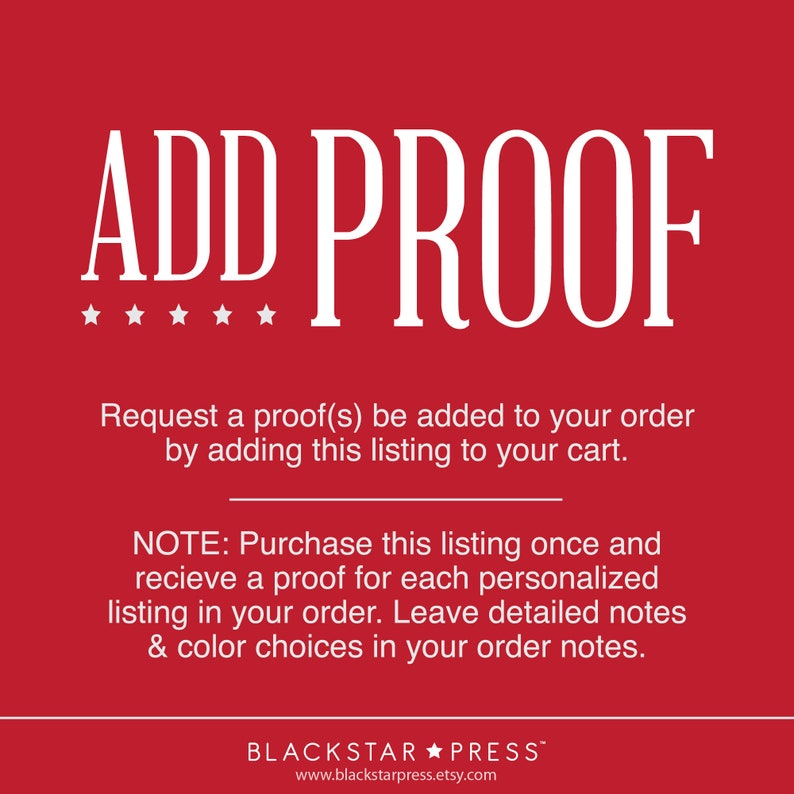Add a digital proof to your order. image 0