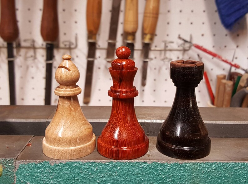 multiple colors available HANDMADE ACRYLIC CHESS Pieces look like Marble!