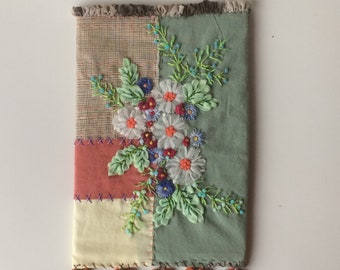 Embroidered cover for notebook