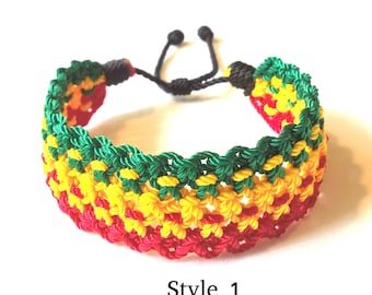 Very nice Wide Woven Bracelet in three colors.