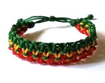 Lovely Handmade Reggae Colors Bracelet