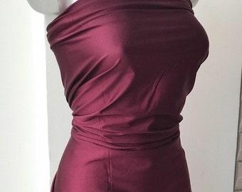 Burgundy red Lycra Spandex fabric Milliskin shiny lustre 4 way stretch 80 nylon 20 Lycra costme dance gymnastic leotard swim w ear bikini