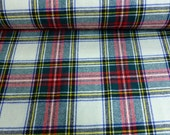wool Tartan fabric Red and white check fabric kilt plaid skirt bustle sewing dressmaking shawl stole scarf 150cm 60 quot