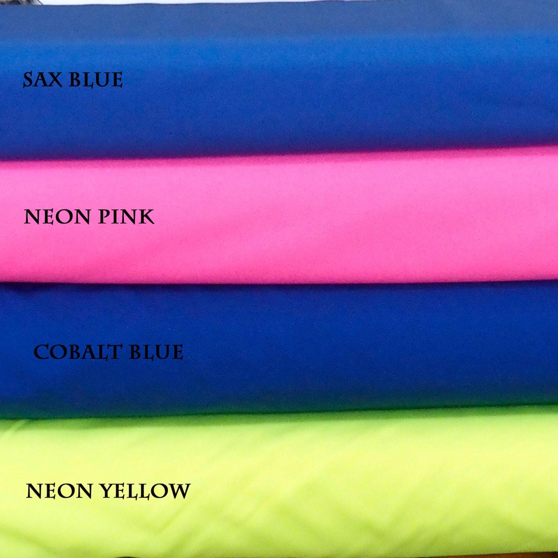 rosa verde fluorescente lustre lycra tela ropa azul cobalto