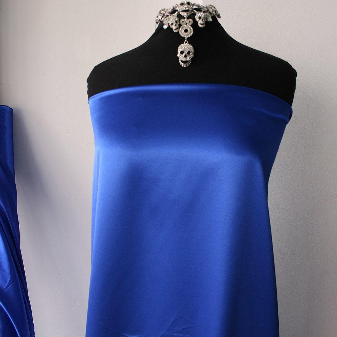 Polyester Spandex Satin Fabric Shiny Stretch Satin Fabric Etsy