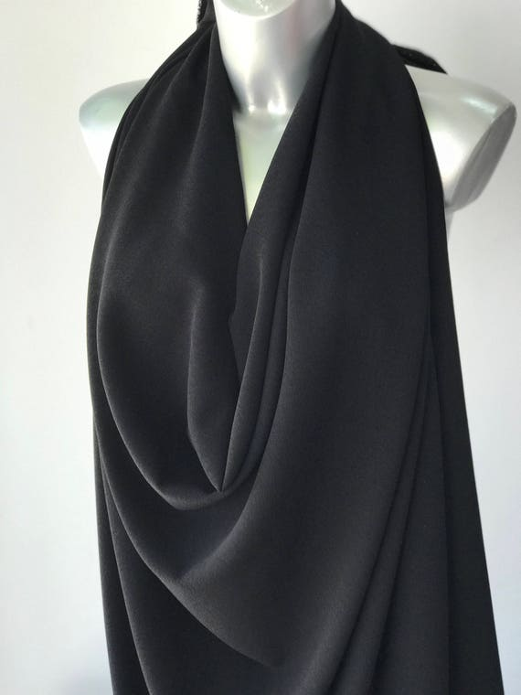 semi opaque 110g square meter 3M length White off white stretch chiffon fabric Bridal polyester Spandex chiffon