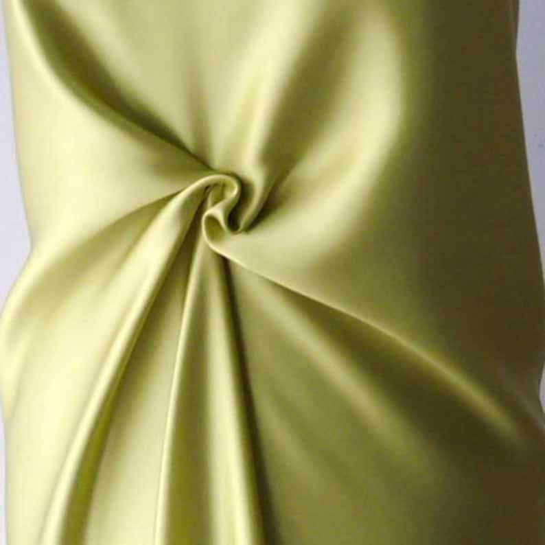 629dbd4d382856 Green satin fabric lime green pure silk satin 85g per square