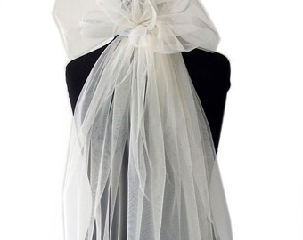 Ivory tulle fabric for embroidery all purpose bridal 140cm wide 54 inches