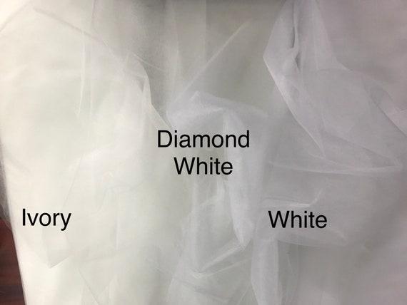 Net Tutu Tulle Parti-Mariage Tissu Maillé 1 m x 300 cm-un peu raide-soie blanc