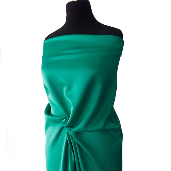 """EMERALD    FABRIC BTY DRESSES FORMAL WEAR SATIN POLYESTER  60/"""" T"""