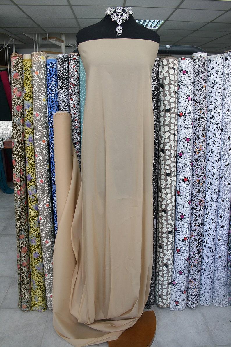 skin color nude stretch organza fabric silk lycra bridal wedding latin ballroom dancewear formal top under lace garment lining 115cm W