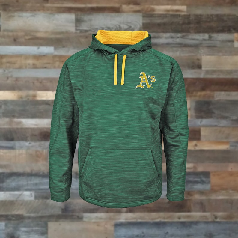premium selection a5622 aaefc Oakland Athletics Hoodie, Oakland A's, Baseball Majestic Brand,  Embroidered, Sweatshirt, Hoodies, baseball fan clothing sweatshirts, MLB