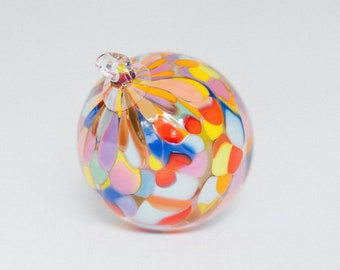 Glass Blown Rainbow Sprinkle Ornament