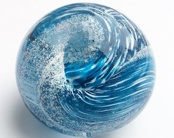 Custom Made One of a Kind Art Glass Memorial Paperweight (Pets Only)