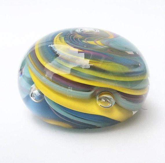 Verre d'Art d'un genre Pastel couleurs verre soufflé presse-papier