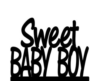 Gender Reveal Sweet Baby Boy Baby Shower Cake Topper Boy Cake Topper Boy Baby Shower Boy Gender Reveal Its A Boy sprinkle shower decorations