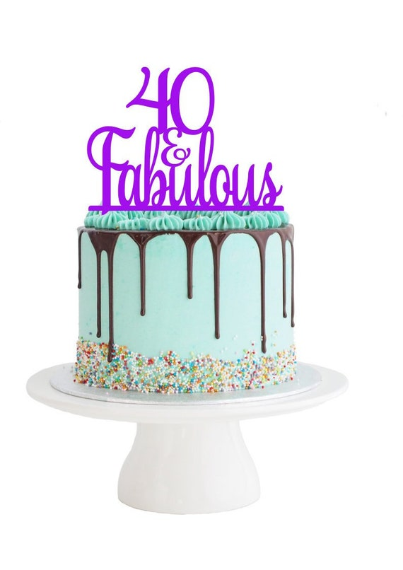 Terrific 40 Fabulous Birthday Cake Topper 40 And Fabulous Cake Topper Etsy Personalised Birthday Cards Cominlily Jamesorg