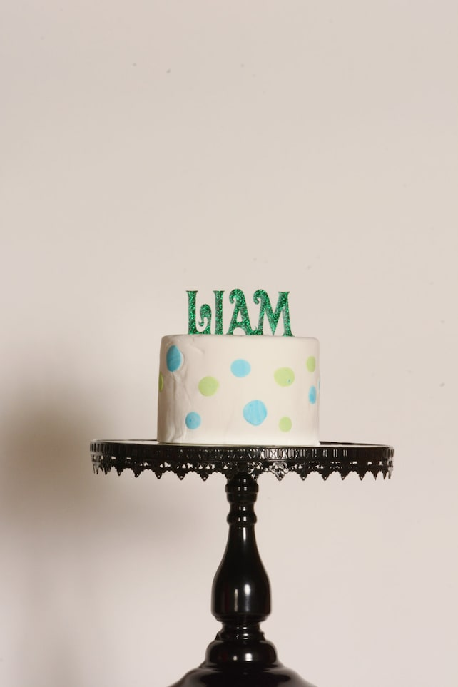 Personalized Name Cake Topper Custom Birthday Customized Baby Shower First Last Party Decorations