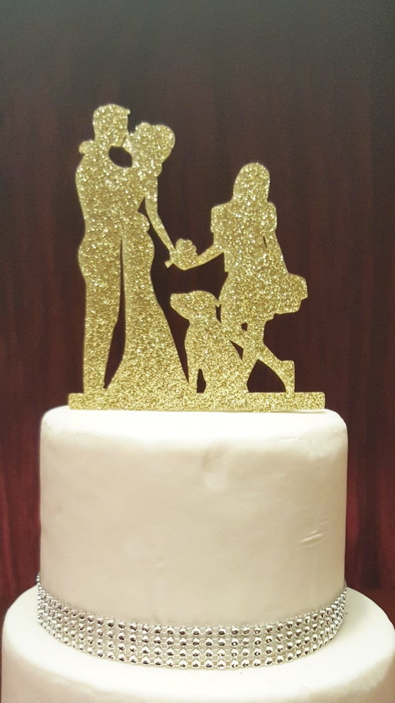 Dancing Bride and Groom Silhouette Wedding Cake Topper with | Etsy