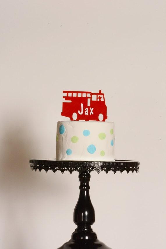 Large Fireman Birthday Cake Candle