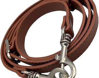 "5/8"" Wide Brown Adjustable Replacement Cross Body Purse Strap Handbag Bag Wallet Clutch"