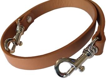 "5/8"" Wide Shoulder Length British Tan Camel Genuine Top Grain Leather Replacement Purse Strap Handbag Bag Wallet Clutch"