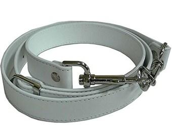 "1"" Wide White Purse Strap Adjustable Cross Body Shoulder Replacement Handbag Bag Wallet Handle"