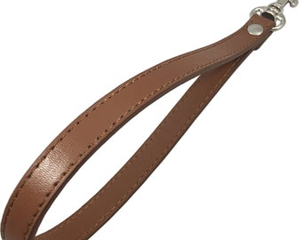 "1/2"" Wide Brown Wristlet Replacement Purse Strap Handbag"