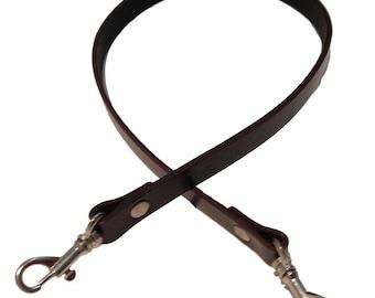 "5/8"" Wide Shoulder Length Brown Genuine Top Grain Leather Replacement Purse Strap Handbag Bag Wallet Clutch"
