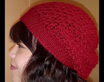 Burgundy Slouchy Hat, Slouch, Beanie, Hats, Crochet Hat, Handmade