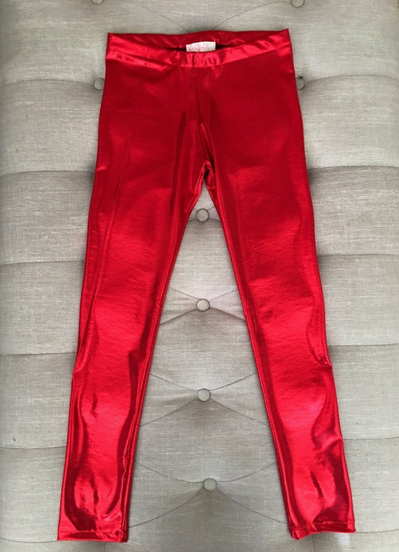 7da9d65bc546d UNISEX Red Metallic Leggings for Baby Toddler & Big KIDS | Etsy