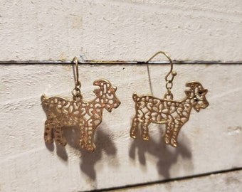Cottagecore Goat Dangly Earrings