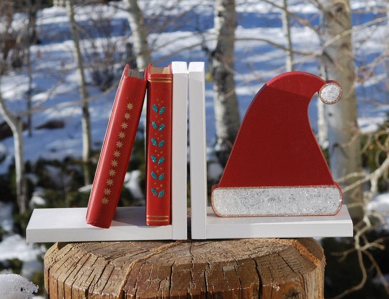 Santa Hat Bookends image 0