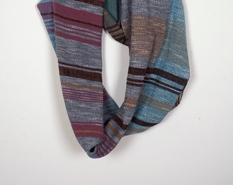 Handwoven Cotton Striped Infinity Scarf