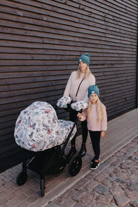 Universal Rain Cover for Buggy Pushchair-Stroller with Baby Blue edge UK Seller