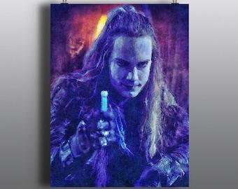 Repo! The Genetic Opera - GraveRobber, Zydrate peddler, Rock opera Art Print, GeneCo Repo Man,Watercolor Mixed Media Poster, No75
